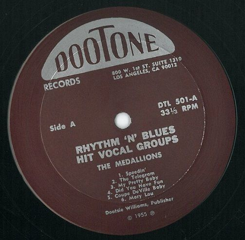 Rhythm And Blues Hit Vocal Groups Vinyl Record LP US ...